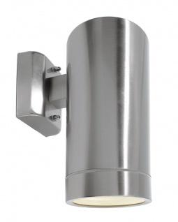Deko Light Zilly IV Down Wandleuchte außen silber IP44 1 flg. E27 Modern
