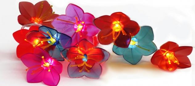 Blumen Lichterkette 10 LED für Innen 2x AA Batterie nicht inkl.