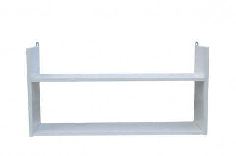 bhp Wandregal, 1, 5cm, E1 MDF, Papier foliert, weiß, 1 Ablage