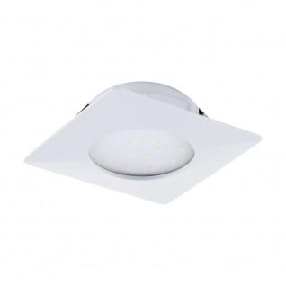 LED Einbauspot EGLO PINEDA 102x102mm weiss