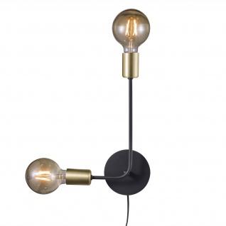 design Wandlampe schwarz matt Nordlux Josefine 2x E27