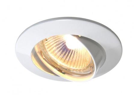 Deko Light Einbaustrahler weiß 1 flg. GU5, 3 / MR16