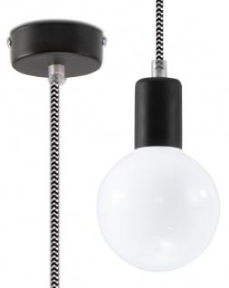 Sollux EDISON Pendelaufhang schwarz, weiss 1-flg. E27