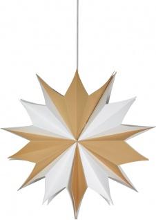 Weihnachtsstern aus dickerem Papier weiß braun von PR Home 60cm