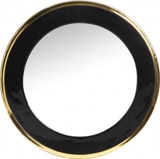 PR Home Wandspiegel schwarz gold glänzend aus Metall 50cm rund
