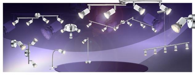 Globo FINA Deckenleuchte Chrom, 6xGU10 LED