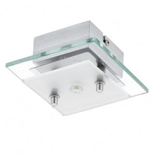 EGLO FRES 2 LED Wand & Deckenleuchte, 1-flg. chrom, satiniert-klar