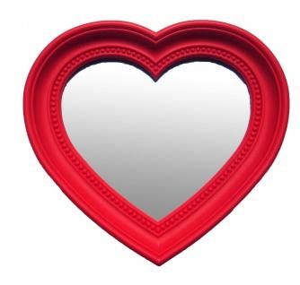 bhp Spiegel-Herzform, rot, Rahmen PP, Rahmenbreite: 1, 3mm