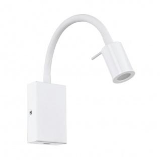 EGLO TAZZOLI LED Wandlampe 380lm weiß mit USB Ladebuchse