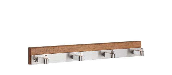 Smedbo Hakenleiste Holz/Edelstahl gebürstet 4-Fach Holz gebeitzt B1067