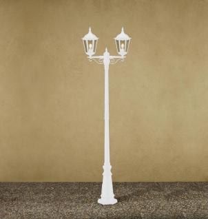 KONSTSMIDE Firenze Weiße Standleuchte mit 2 Leuchtenköpfen