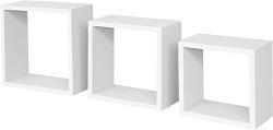 "bhp Wandboard "" Simple"", 3tlg., 1, 2cm MDF, PVC weiß, inkl. Wandhalterung"