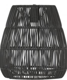 Lampenschirm Rattan für Außen schwarz PR Home Saigon 28cm für E27 Pendelaufhang