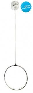 LED Hängeleuchte chrom Näve Loop Line Ring 80cm 1372lm