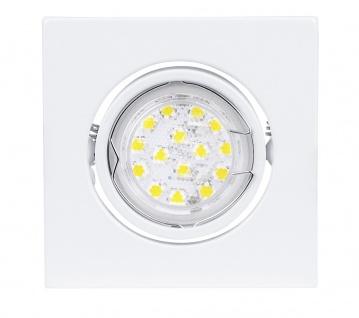 EGLO LED Einbaustrahler GU10, 3W, weiss, schwenkbar, eckig