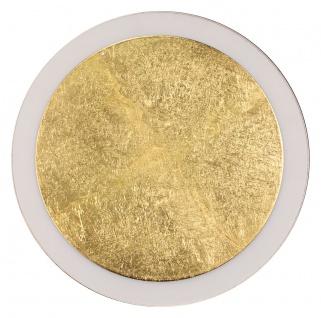 Luce Design Moon LED Wand und Deckenleuchte gold, schwarz 1210lm 3500K 7, 5x34x34cm dimmbar