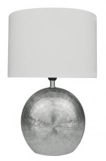 Wofi Tischlampe LEGEND silber E14
