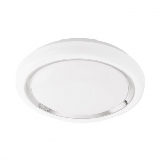 EGLO CAPASSO LED Deckenleuchte Ø340, 1-flg., weiss, chrom