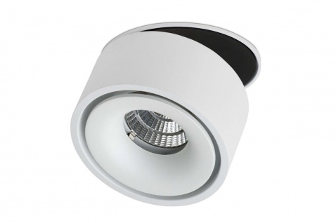 Lumexx Semi LED Einbauleuchte weiß/schwarz 10W, 680lm, 2700k