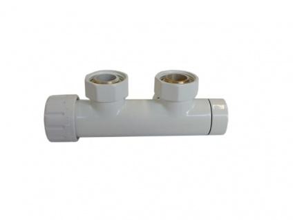 Schlösser Duo-Plex Design Mittelanschluss Set Ventil Eckform links weiss 6021 00401