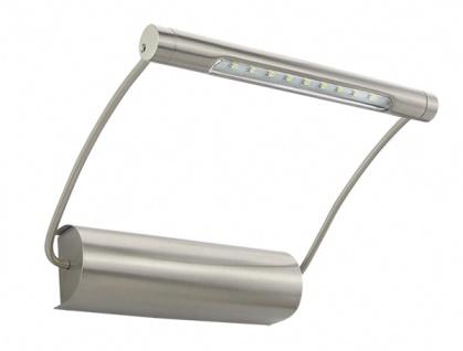 Bioledex® LED Bilderleuchte batteriebetrieben - Edelstahl Design 165x145x40mm