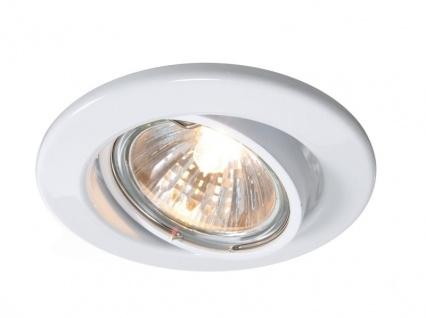 Deko Light Einbaustrahler weiß 1 flg. GU5, 3 / MR16 Modern