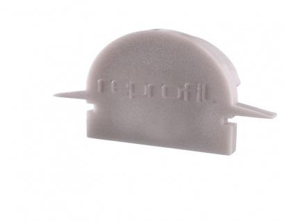 Deko Light Endkappe R-ET-01-15 Set 2 Stk für Profil grau