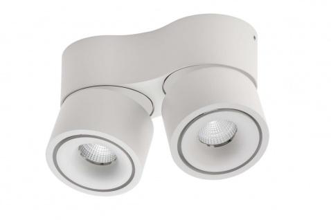 Lumexx Mini Double LED Aufbauleuchte weiß/weiß 2x7W, 2x550lm, 2700k