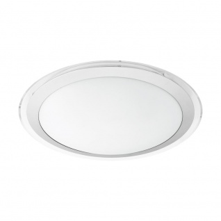 EGLO COMPETA 1 LED Deckenleuchte Ø435, 1-flg., weiss, silber, klar