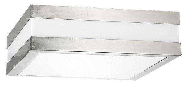 Rabalux Stuttgart Außen Deckenleuchte 2x E27 edelstahl eckig 285mm