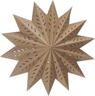 Weihnachtsstern aus Papier braun beige von PR Home 50cm