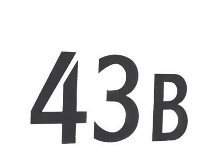 Smedbo Briefkastennummer 1 Edelstahl schwarz Selbstklebend Artikel Nr. BB981