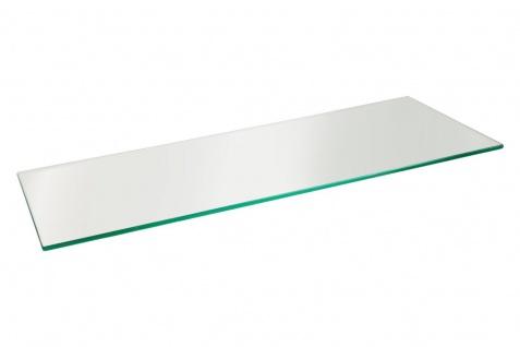 bhp Glas-Wandregal, gerade, 0, 8mm Klarglas, ohne Wandhalterungen