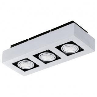 EGLO LOKE 1 LED Aufbauleuchte 3er, GU10 alu-gebürstet, chrom, schwarz
