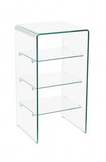bhp Glasregal aus formgebogenem Glas mit 3 Einlegeböden 80x40x40cm Glasstärke 10/5 mm