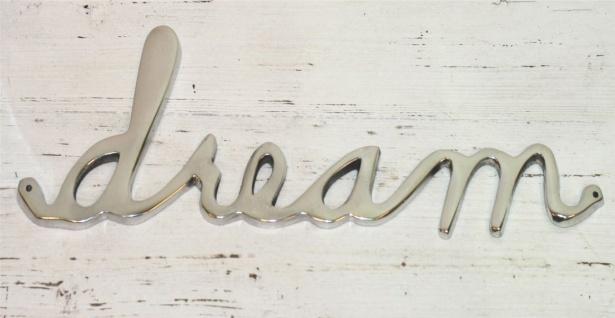 Aluminium Schriftzug dream 38x12x1cm