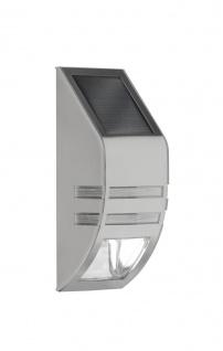Wofi LED Solar Wandaußenleuchte CUPIDO edelstahl geb.