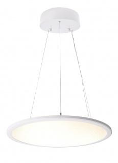 Deko Light LED Panel transparent rund Pendelleuchte weiß 5100lm 3000K >80 Ra 150° Modern