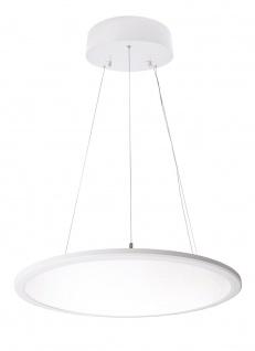 Deko Light LED Panel transparent rund Pendelleuchte weiß 5600lm 4000K >80 Ra 150° Modern