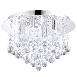 EGLO ALMONTE Kristall Deckenleuchte, 4-flg., G9, chrom, klar