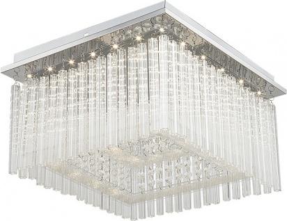 Rabalux Danielle LED Glas Kristall Deckenleuchte chrom eckig