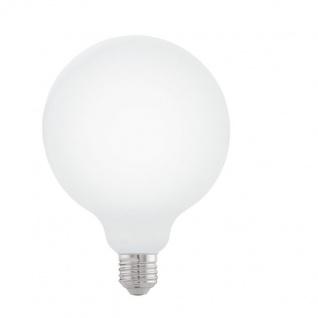 EGLO LED Leuchtmittel E27 G125 7W 806lm 2700K 300° opal dimmbar 125x173mm
