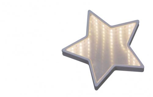 Rabalux Starr LED Dekotischleuchte Stern mirror weiß 140lm 6500K