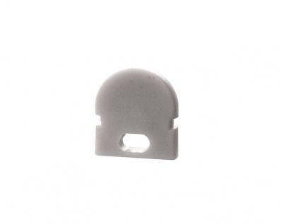 Deko Light Endkappe R-AU-01-05 Set 2 Stk für Profil grau