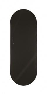 Lohema Design Glas Heizkörper elektrisch Ring 1000W schwarz 1660 x 600mm