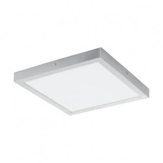 LED Deckenleuchte eckig EGLO FUEVA 1 silber 400x400mm 3000K