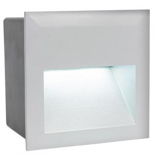 EGLO ZIMBA LED Außen Wandeinbauleuchte, IP65 silber