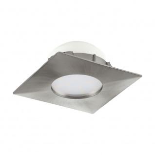 EGLO PINEDA LED Einbauleuchte 78x78, 1-flg., nickel-matt