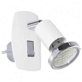 EGLO MINI 4 LED Steckdosenleuchte GU10 weiss, chrom