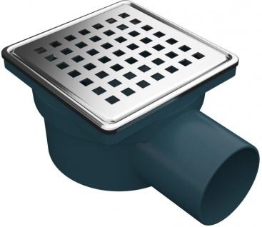 MERT Bodenablauf für ebenerdige Dusche mit modernen Edelstahlrost Square 100 x 100 mm